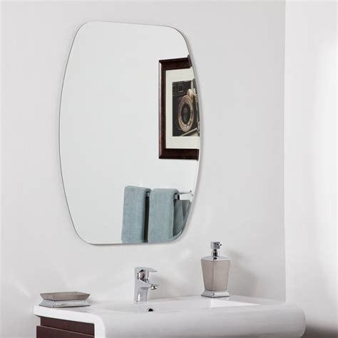 Frameless Bathroom Mirrors Shop Decor Sydney 23 6 In X 31 5 In Other Frameless Bathroom Mirror At Lowes