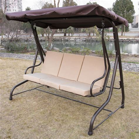 glider swing replacement cushions outdoor 3 person canopy swing glider hammock patio