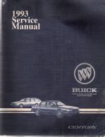 service manuals schematics 1993 buick century electronic throttle control 1993 buick century factory service manual