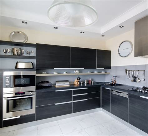 Modern Kitchen With Black Appliances 34 Gorgeous Kitchens With Stainless Steel Appliances