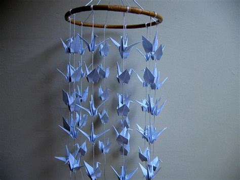 Origami Crane Mobile For Sale - children decor origami crane mobile by