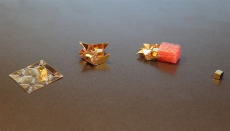 Robot Origami - ingestible origami robot unfolds from ingestible capsule