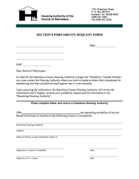 section 8 form nycha section 8 portabilty request form download fill
