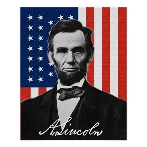 lincoln poster abraham lincoln poster zazzle