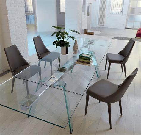 tavolo di cristallo allungabile midj tavolo toronto allungabile cristallo tavoli a