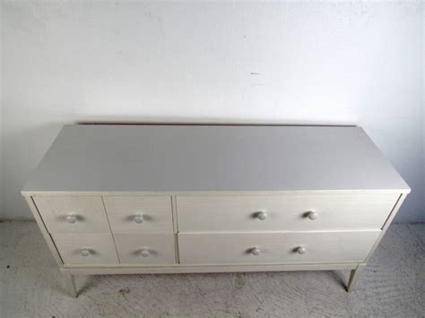 Low 4 Drawer Dresser White Four Drawer Low Dresser By Kroehler Furniture For