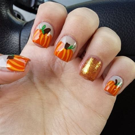 nails pumpkin 25 inspired nails pretty designs