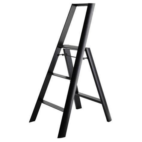 folding modern step stool ladder in aluminum nova68