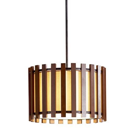 Fabric Pendant Light Shades Shop Allen Roth 17 75 In W Pecan Standard Pendant Light