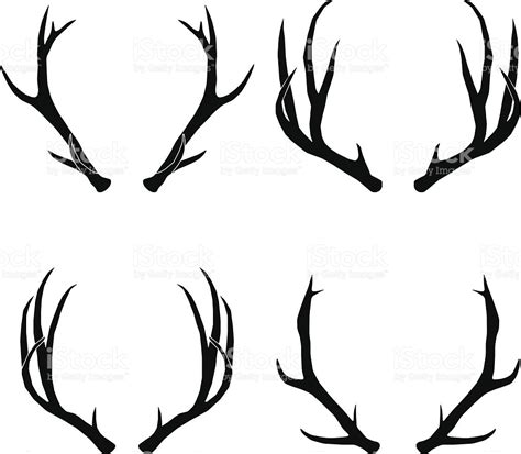 clipart collection free vector deer antlers collection stock vector 456916919
