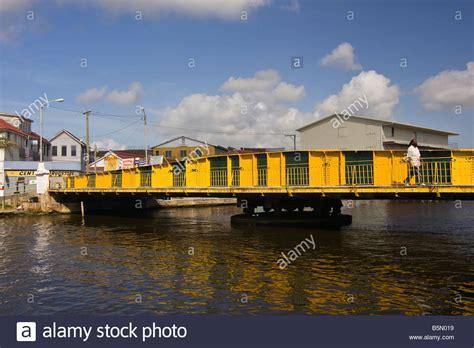 swing bridge belize belize city belize the swing bridge on haulover creek in