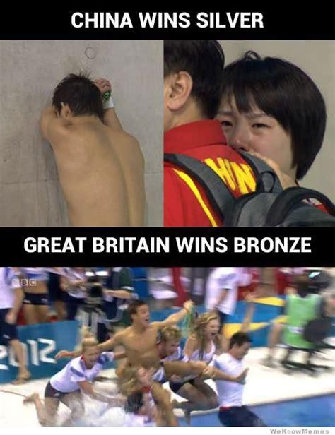 China Meme - china vs great britain olympic medal celebrations meme