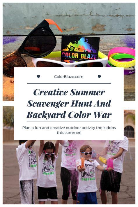 color war powder color blaze supply color powder scavenger hunt and