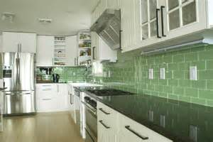 Kitchen Backsplash Green by Green Subway Tile Kitchen Backsplash Supreme Glass Tiles