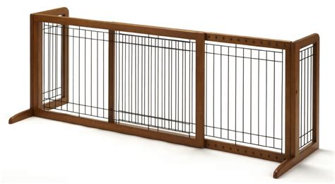 safety gitezcom freestanding large pet gate brown 40 to 70 baby and