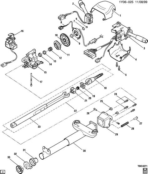 1989 cadillac eldorado steering column diagram early