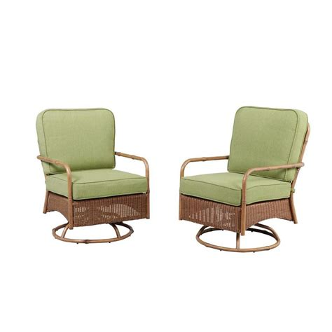 motion patio chairs hton bay clairborne motion patio lounge chair with moss