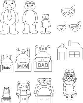felt storyboard templates goldilocks and the three bears diy printable felt board