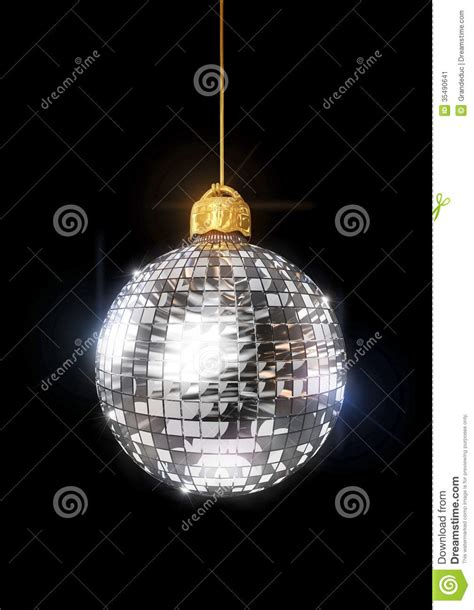 christmas disco ornament stock image image 35490641