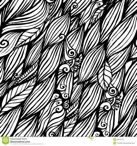 doodle hair vector black and white doodle ink hair waves seamless stock
