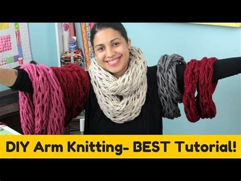 youtube tutorial for infinity scarf arm knitting infinity scarfs and knitting on pinterest