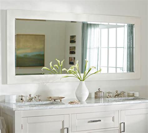 double wide bathroom mirror pottery barn classic double wide mirror decor look alikes