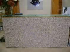 tiled reception desk reception desk custom tiled front glass counter golden