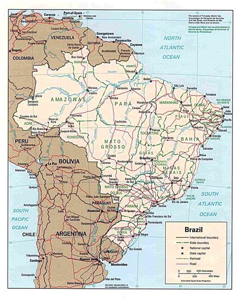 map of brazil with states brazil by state