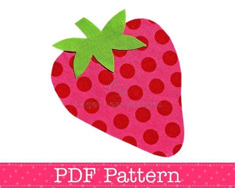 patterns for applique strawberry applique template fruit food diy children pdf