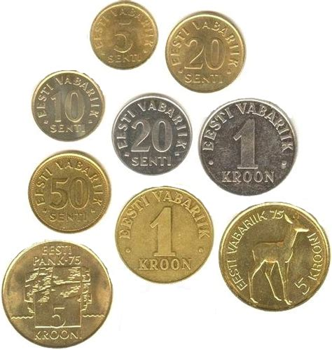 estonska koruna mena statni vlajky