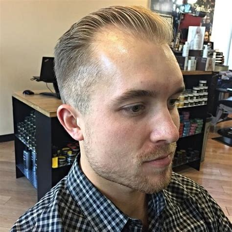 receding hairline slick back hair 50 smart hairstyles for men with receding hairlines men