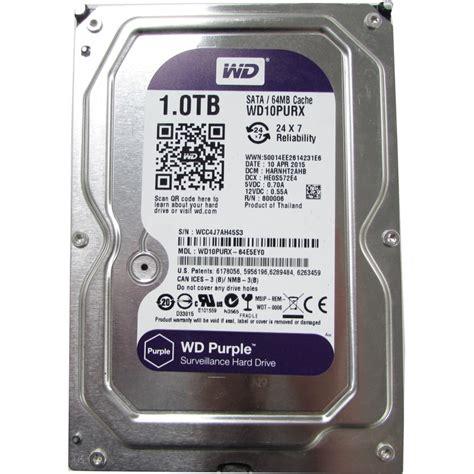 Hardisk Wd Purple 1tb western digital purple wd10purx 1tb sata 3 5 quot surveillance disk drive drives