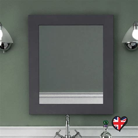 grey bathroom mirror insolito carolla bathroom mirror charcoal grey buy