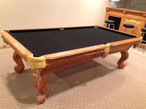 connelly pool table prices used connelly billiards solid wood gorgeous pool table for sale