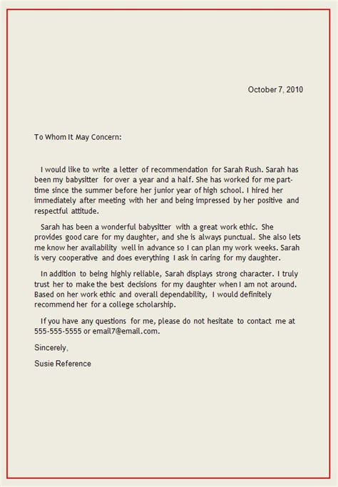 Reference Letter Writing Exles Personal Letter Of Recommendation Reference Letter1 Writing A Reference Letter Inteview