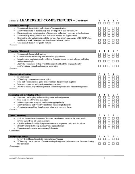 employee evaluation form sle free