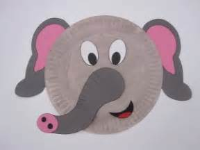 Paper Plate Elephant Craft - crafts actvities and worksheets for preschool toddler and