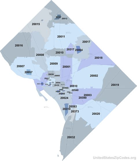 dc zip code map printable zip code maps free