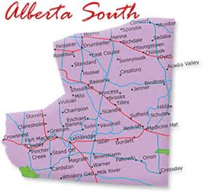 map of alberta canada with cities