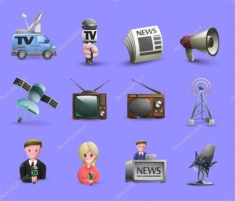 imagenes infantiles medios de comunicacion conjunto de iconos de los medios de comunicaci 243 n archivo