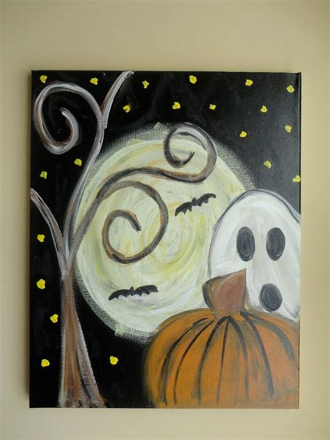 painting ideas canvas easy halloween paintings on canvas www imgkid com the