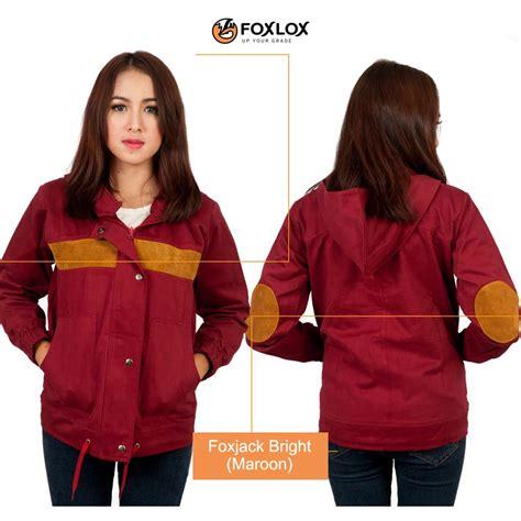 Fashion Pria Wanita Jaket Parka Bb Saku 4 Maroon Abu Premium Bb Bolak jual jaket hoodie pria wanita murah foxlox foxjack bright maroon griya fashion