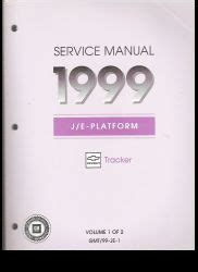 1999 chevrolet tracker dash owners manual service manual removing the console on a 2003 chevrolet 1999 chevrolet tracker service manual j e platform 2 volume set