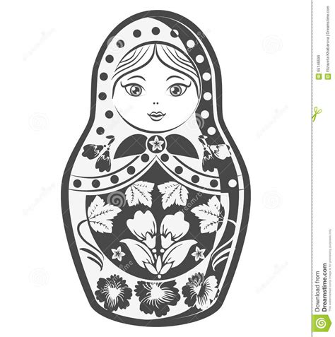 matrioska russian culture doll vector illustration stock