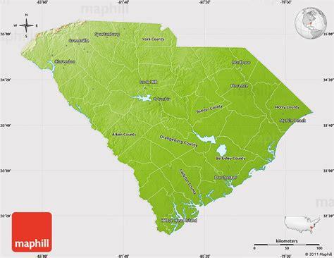 united states map south carolina physical map of south carolina cropped outside