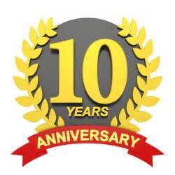 10 years anniversary 10 3d