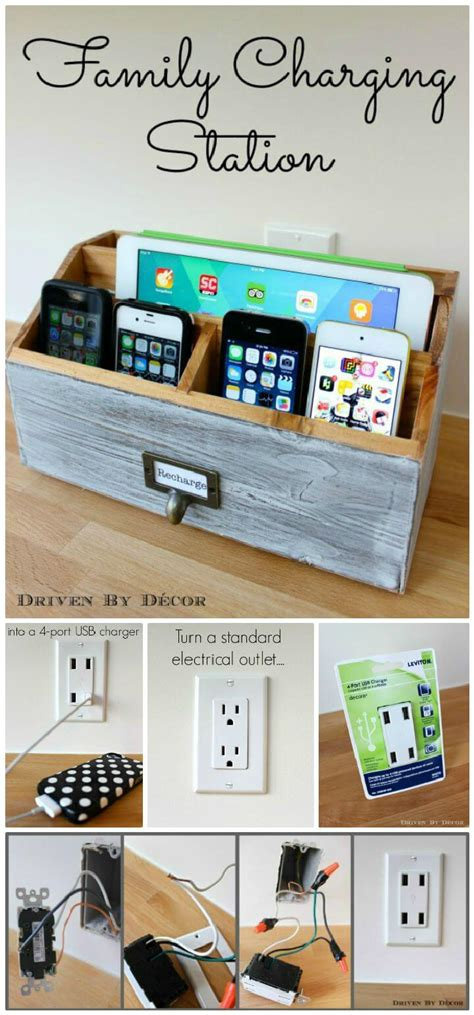 diy multi device charging station 40 best diy charging station ideas easy simple unique
