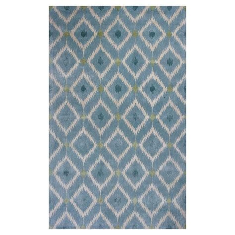 bobs area rugs kas rugs bob mackie home blue mirage 8 ft x 11 ft area rug bmh10188x11 the home depot