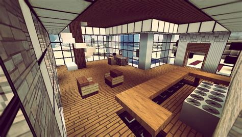 Minecraft Interior Design Minecraft House Interior 08 Minecraft Pinterest Minecraft Modern Minecraft Ideas And