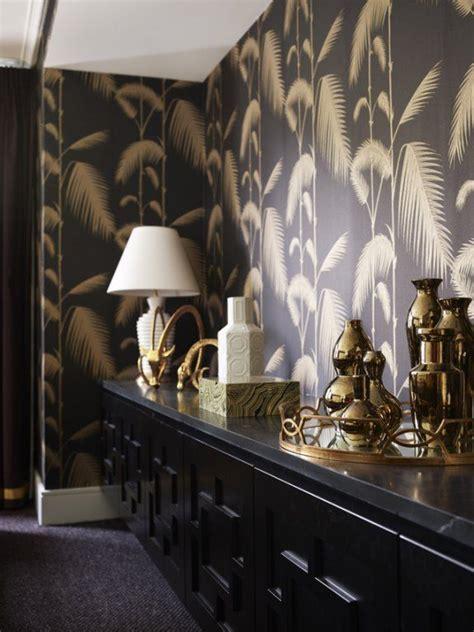 gold wallpaper sydney quot palm jungle quot wallpaper in black tan cole son